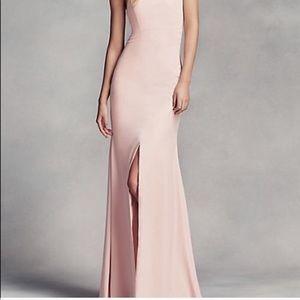 Vera Wang Blush Halter Bridesmaid Dress